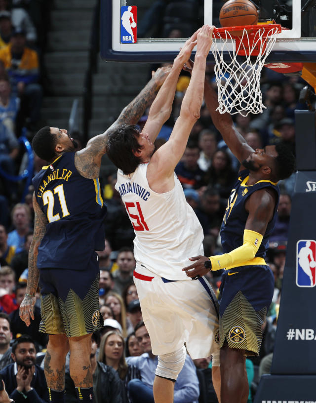 Boban Marjanovic was way, way, way too big for the Nuggets. (AP)