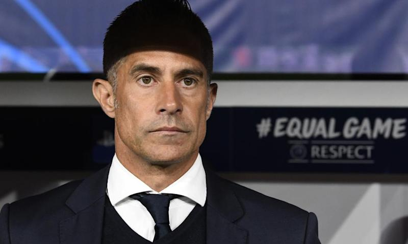 Sylvinho, during his spell as Lyon manager earlier this season.