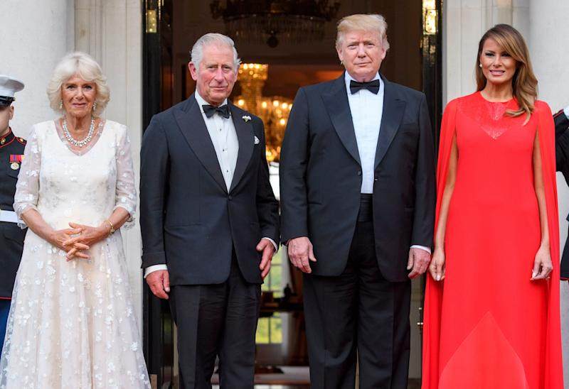 Melania Trump Wears Givenchy Gown for Winfield House Dinner
