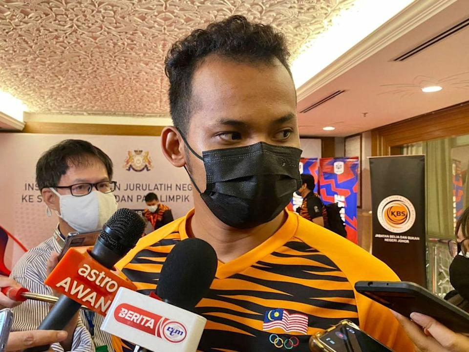 Track cyclist Mohd Shah Firdaus Sahrom said the 2021 UCI Track Cycling World Championships held in Robaix, France next month will be his final event for the year. — Picture by Ben Tan
