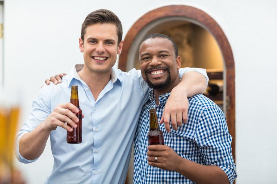 white man and black man enjoy beer, things not to say to single people
