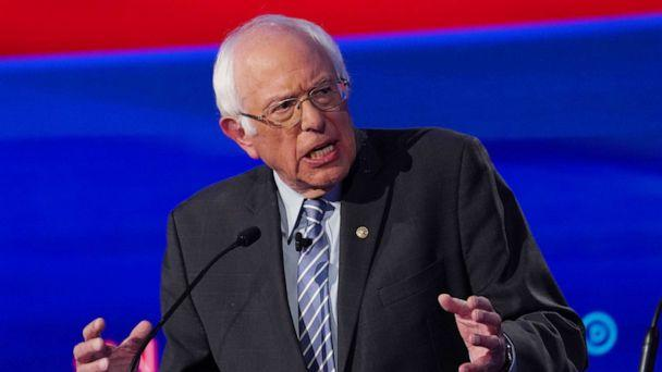 PHOTO: Democratic presidential hopeful Bernie Sanders speaks during the fourth Democratic primary debate at Otterbein University in Westerville, Ohio, Oct. 15, 2019. (Shannon Stapleton/Reuters)
