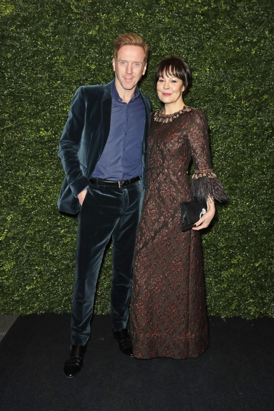 Damian Lewis and Helen McCrory pose for a photo together