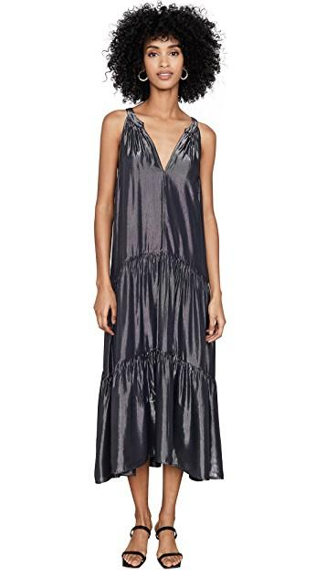 Long maxi cocktail Christmas summer party dress black