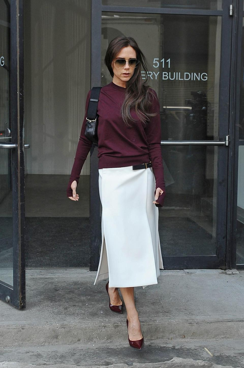 <p>White and maroon: A colour combo you should 100% try at home. <em>[Photo: Getty]</em> </p>