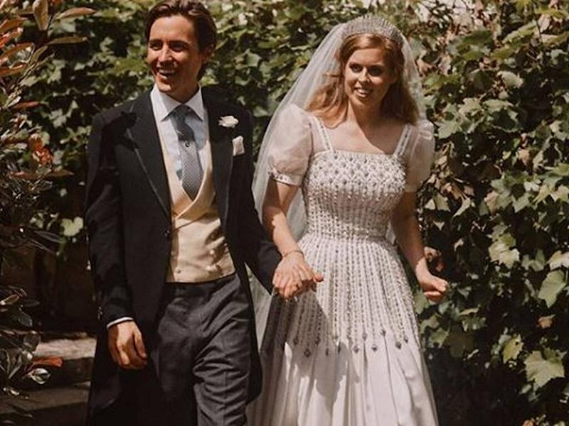 Princess Beatrice wed in dress first worn by the Queen