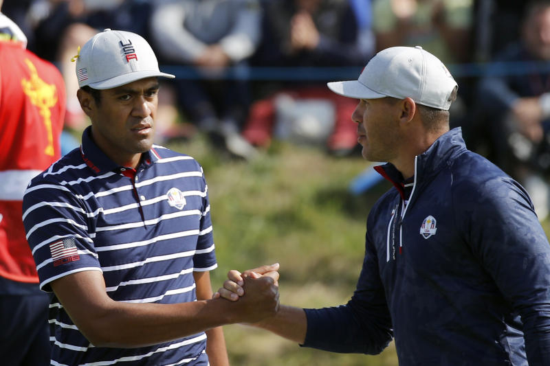 Ryder Cup: Tiger Woods reacts to being left out of USA's foursomes