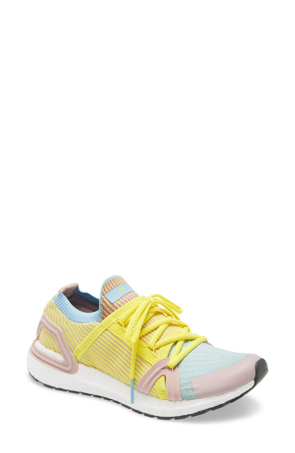 """<p><strong>Adidas by Stella McCartney</strong></p><p>nordstrom.com</p><p><strong>$184.00</strong></p><p><a href=""""https://go.redirectingat.com?id=74968X1596630&url=https%3A%2F%2Fshop.nordstrom.com%2Fs%2Fadidas-by-stella-mccartney-ultraboost-20-s-running-shoe-women%2F5417513&sref=https%3A%2F%2Fwww.harpersbazaar.com%2Ffashion%2Ftrends%2Fg33234271%2Fcute-running-shoes-for-women%2F"""" rel=""""nofollow noopener"""" target=""""_blank"""" data-ylk=""""slk:Shop Now"""" class=""""link rapid-noclick-resp"""">Shop Now</a></p><p>Designer shoes are often just for leisure activities, but the Adidas by Stella McCartney sneakers are as primed for the running trail as they are for the runway.</p>"""
