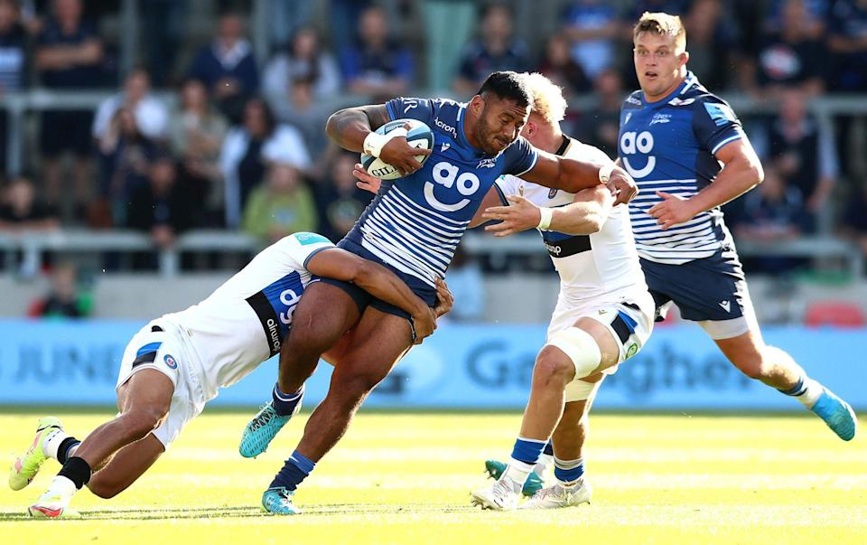 Manu Tuilagi in action against Bath - GETTY IMAGES