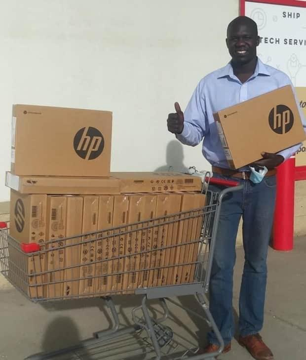 Gar Gar has been helping connect kids in need with laptops to help them with school work.