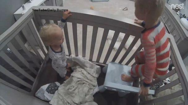 VIDEO: Brother helps toddler escape from crib: 'You can do it. Finn, jump to me!' (ABCNews.com)