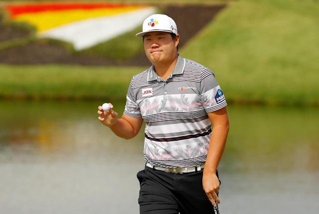 """<h1 class=""""title"""">2020 Arnold Palmer Invitational Presented By MasterCard - Final Round - Sungjae Im</h1> <div class=""""caption""""> Sungjae Im is just a few off the lead in his first Masters ... that is, a simulated Masters. But still, an impressive showing. </div> <cite class=""""credit"""">(Photo by Kevin C. Cox/Getty Images)</cite>"""