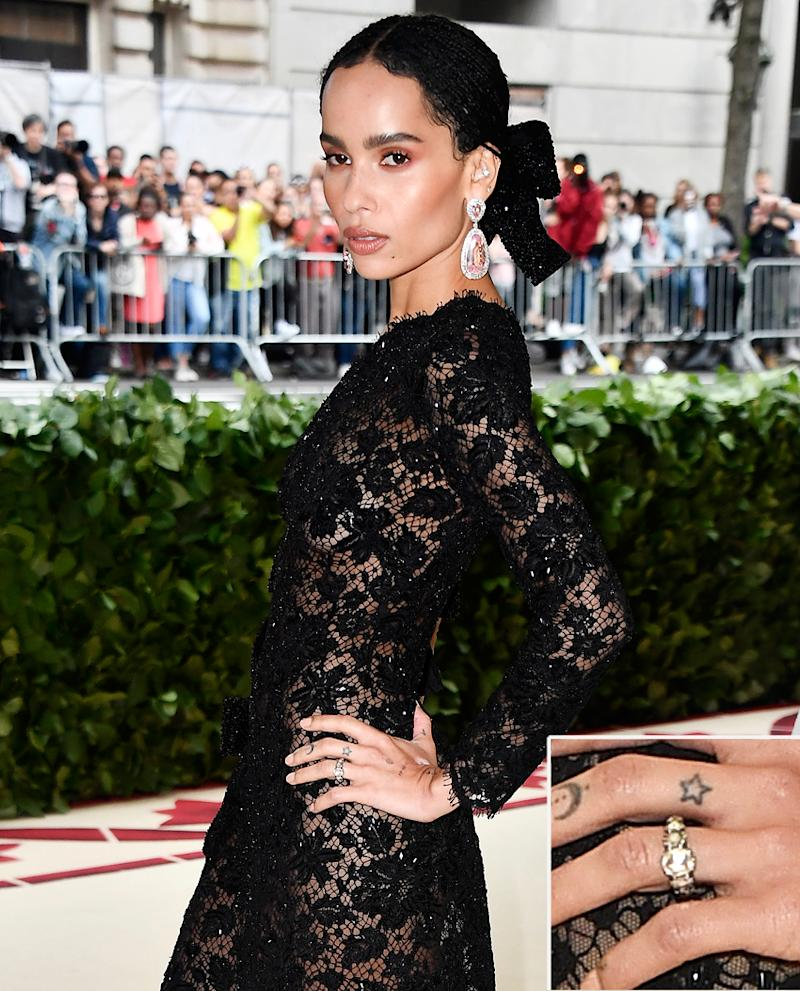 Zoë Kravitz Has Been Wearing Her Engagement Ring for Months: Get a Closer Look at Her Bling