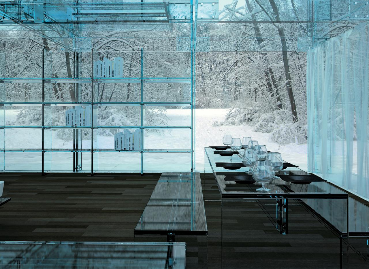 Amazing glass homes for Arosio arredamenti