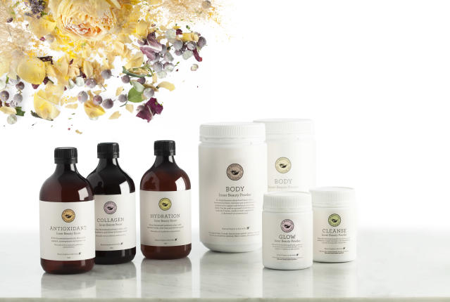 A range of skin health products from The Beauty Chef. (Photo courtesy of The Beauty Chef)