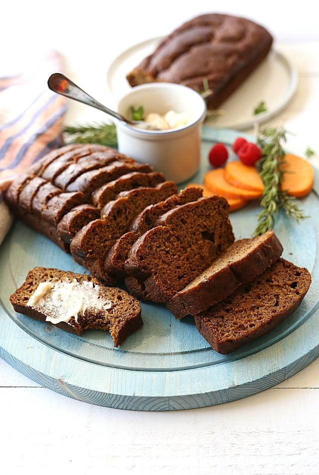 "<p>This gluten- and dairy-free bread can be enjoyed for breakfast, as dessert, or as a midday snack. Pair it with whipped cinnamon spice butter for best results.</p> <p><strong>Get the recipe</strong>: <a href=""https://delightfulmomfood.com/butternut-squash-flax-bread-gluten-free-dairy-free/"" class=""link rapid-noclick-resp"" rel=""nofollow noopener"" target=""_blank"" data-ylk=""slk:butternut squash flax bread"">butternut squash flax bread</a></p>"