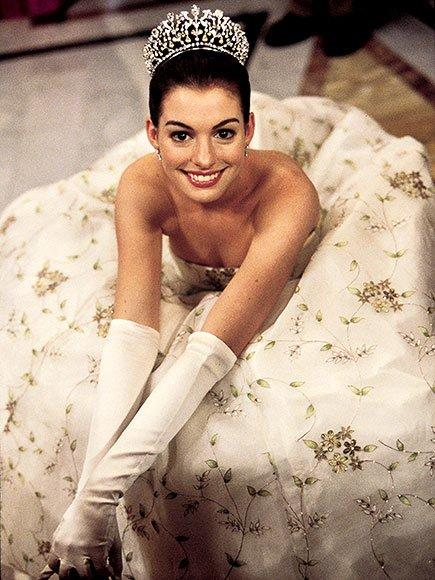 """<em>The Princess Diaries</em> (2001) was Hathaway's feature-film debut. According to director Garry Marshall on the film's DVD commentary, his daughters saw Hathaway's audition tape and said the actress had the best """"princess hair"""" of any of the girls in the running for the part."""