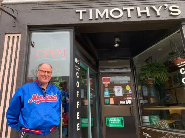 'A visually busy coffee shop is attractive to people, it looks like it's exciting and it's fun and it's a good place to be,' says Timothy's World Coffee shop owner Campbell Webster.