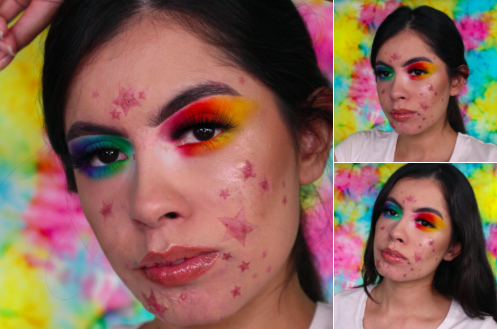 A make up artist is embracing her spots by turning them into stars [Photo: Instagram/Rocio Cervantes]