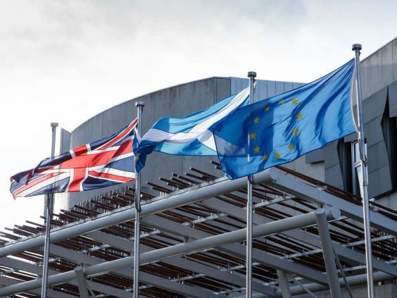 The plans were dropped before MSPs voted on the emergency law in the Scottish Parliament (Getty)
