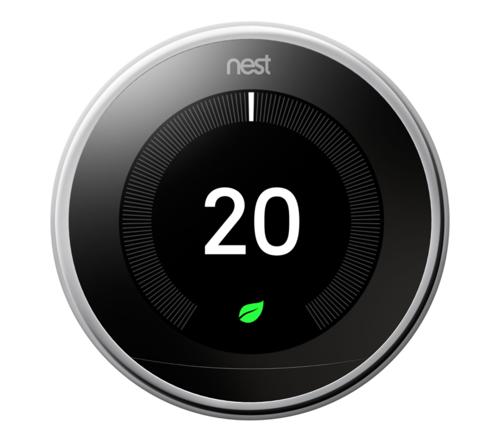 Google Nest Wi-Fi Smart Learning Thermostat 3rd Generation in Polished Steel (Photo via Best Buy Canada)