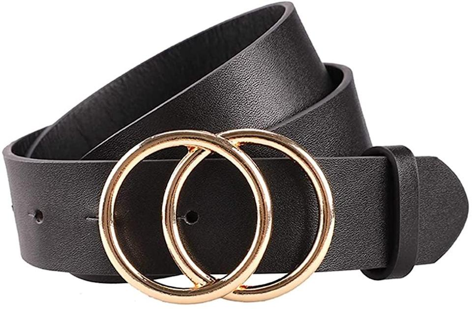<p>The <span>Earnda Women's Leather Belt</span> ($15) is perfect with jeans and dresses.</p>