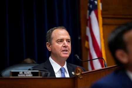 U.S. House Intelligence Committee Chairman Adam Schiff (D-CA) speaks as Joseph Maguire, acting director of national intelligence, testifies during a House Permanent Select Committee on Intelligence, on Capitol Hill in Washington