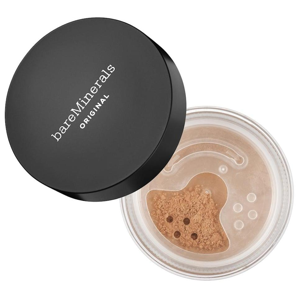 <p>If you're all about multitasking, you can always use this <span>bareMinerals Original Loose Powder Mineral Foundation SPF 15</span> ($32) as both a foundation and a setting powder.</p>