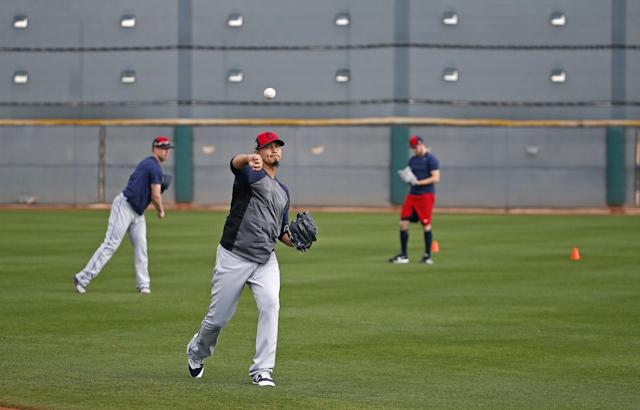 Carlos Carrasco is back for the Indians. (AP)
