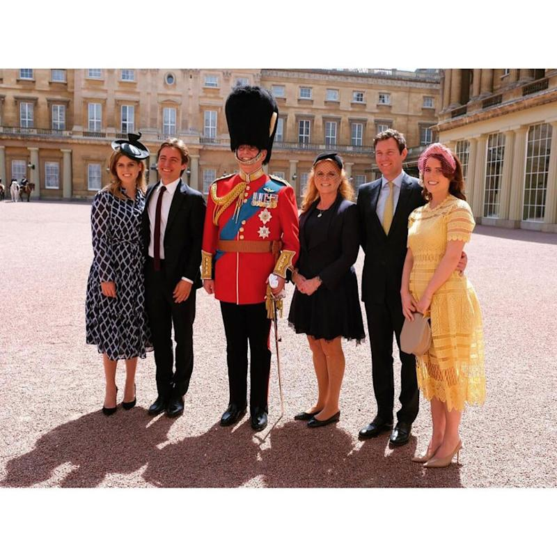 Princess Beatrice, Edoardo Mapelli Mozzi, Prince Andrew, Sarah Ferguson, Jack Brooksbank and Princess Eugenie | Prince Andrew/Instagram