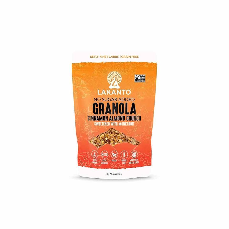 """<p>In general, look for snacks that have a lot of flavor, crunch, and fiber for lasting energy, says Sylvia Melendez-Klinger, DBA, MS, RD, CPT, founder of <a href=""""https://www.hispanicnutrition.com/"""" rel=""""nofollow noopener"""" target=""""_blank"""" data-ylk=""""slk:Hispanic Food Communications"""" class=""""link rapid-noclick-resp"""">Hispanic Food Communications</a> and Scientific Advisory Board member for the Grain Foods Foundation. A favorite that satisfies both criterion? No sugar-added granola—a lightly sweetened blend of coconut, sunflower seeds, almonds, chia seeds, cinnamon, and a hint of sea salt.</p><p><a class=""""link rapid-noclick-resp"""" href=""""https://www.amazon.com/HI-Happy-Inside-Breakfast-Prebiotics-Probiotics/dp/B07DTSJ7DM?tag=syn-yahoo-20&ascsubtag=%5Bartid%7C10072.g.27072697%5Bsrc%7Cyahoo-us"""" rel=""""nofollow noopener"""" target=""""_blank"""" data-ylk=""""slk:SHOP NOW"""">SHOP NOW</a></p>"""