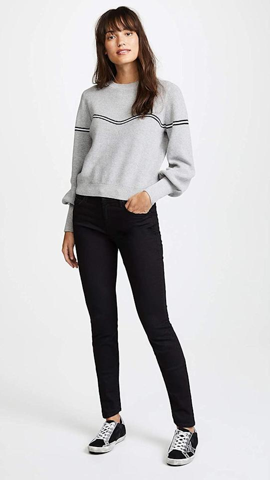 "<p>You can't go wrong with these <a href=""https://www.popsugar.com/buy/Mother-Women-Looker-Skinny-Jeans-583838?p_name=Mother%20Women%27s%20The%20Looker%20Skinny%20Jeans&retailer=amazon.com&pid=583838&price=147&evar1=fab%3Aus&evar9=47565691&evar98=https%3A%2F%2Fwww.popsugar.com%2Fphoto-gallery%2F47565691%2Fimage%2F47565692%2FMother-Women-Looker-Skinny-Jeans&list1=shopping%2Camazon%2Cdenim%2Csale%2Cget%20the%20look%2Cmeghan%20markle%2Csale%20shopping%2Ccelebrity%20style&prop13=api&pdata=1"" rel=""nofollow"" data-shoppable-link=""1"" target=""_blank"" class=""ga-track"" data-ga-category=""Related"" data-ga-label=""https://www.amazon.com/MOTHER-Womens-Looker-Skinny-Guilty/dp/B019FKTL4G/ref=sr_1_95?dchild=1&amp;m=A3AQGBEJ7K4ZZ8&amp;qid=1592857618&amp;refinements=p_6%3AA3AQGBEJ7K4ZZ8&amp;s=apparel&amp;sr=1-95&amp;th=1&amp;psc=1"" data-ga-action=""In-Line Links"">Mother Women's The Looker Skinny Jeans</a> ($147, originally $196).</p>"