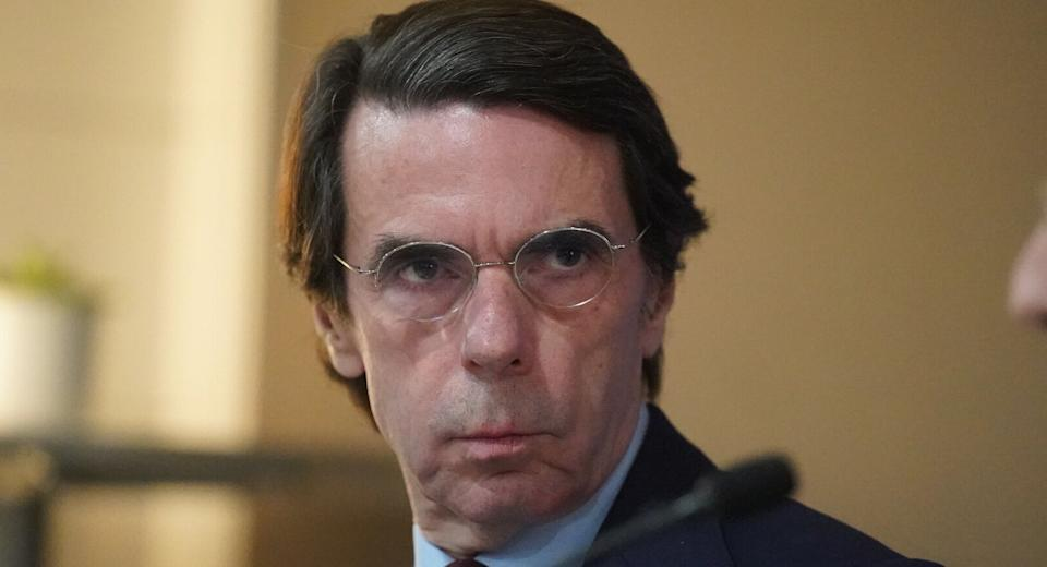 José María Aznar mirando fijamente.  (Photo: Europa Press News via Getty Images)