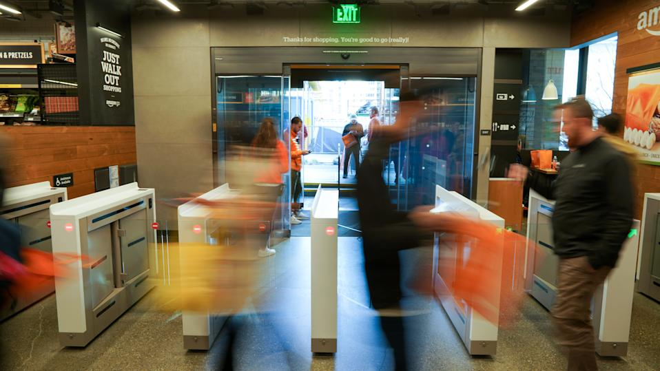 Amazon Go opens to the Public in Seattle, Washington, on January 22, 2018. (Photo by Alex Tsway/Sipa USA)