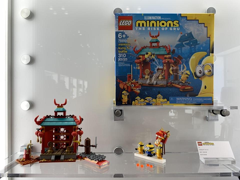 <p>The Lego Minions Minion Kung Fu Battle ($40) has over 300 pieces and is best suited for kids ages 6 and up.</p>