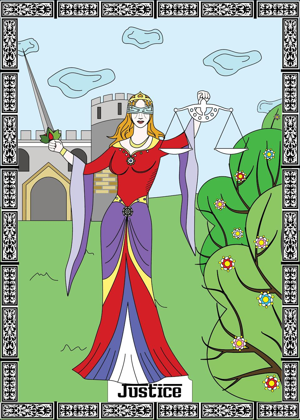 """<h1 class=""""title"""">justice major arcana tarot card</h1><cite class=""""credit"""">Getty Images</cite>"""