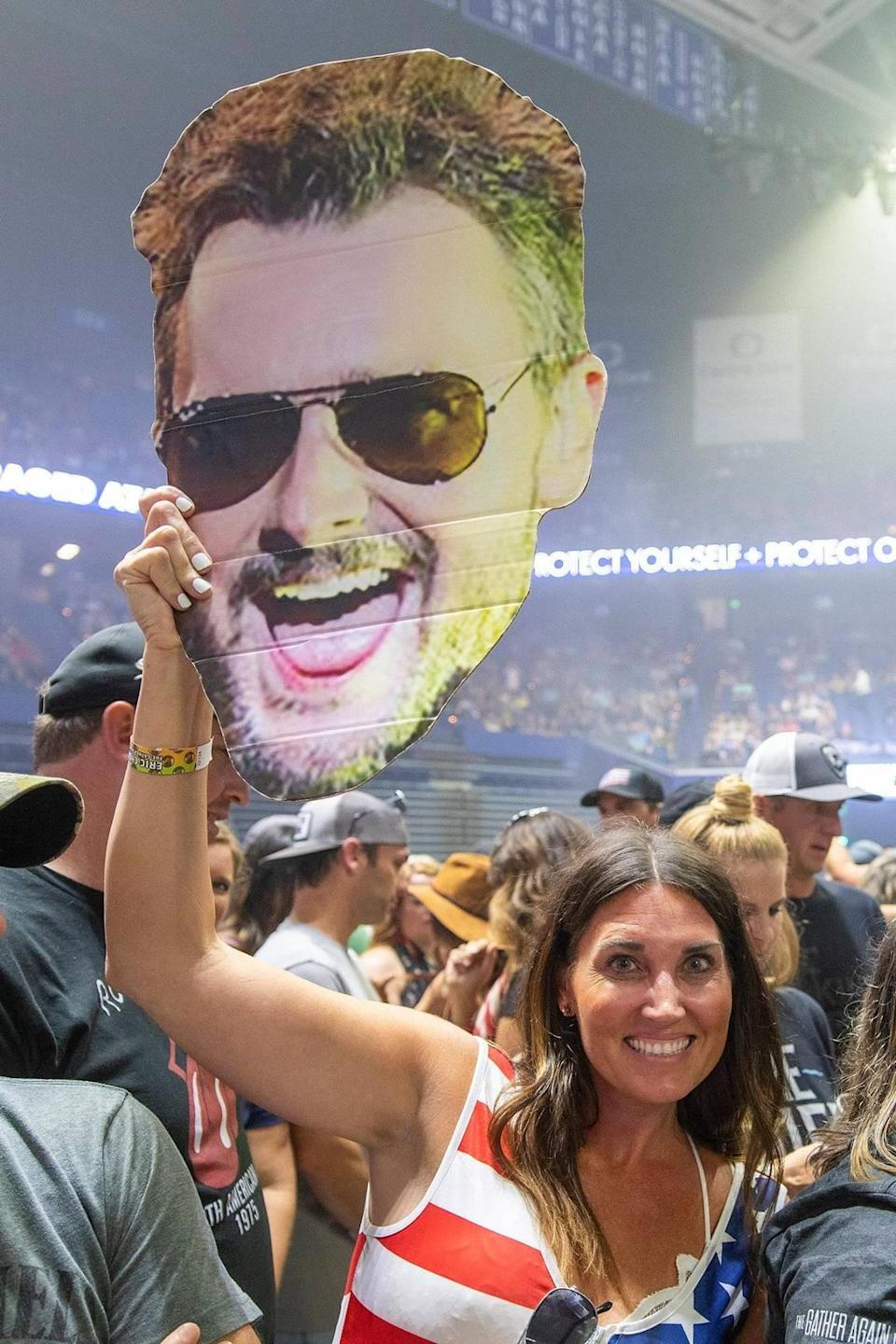 The crowd at the Eric Church in concert on Sept. 17 in Rupp Arena was largely maskless, with no vaccine or negative COVID requirements.