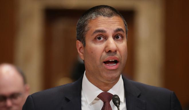 Ajit Pai, the chairman for the federal communications commission, echoes Strayer in urging countries to look closely at vendors and companies engaged in the foundational stages of 5G network deployment. Photo: AFP
