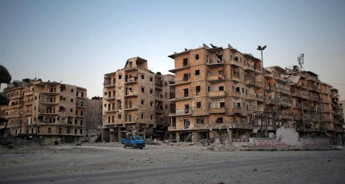 Aleppo city, under deadly bombardment on April 24, 2016 for a third day in succession, was once Syria's commercial hub but in 2012 it split into rebel- and regime-controlled halves (AFP Photo/Ahmed Deeb)