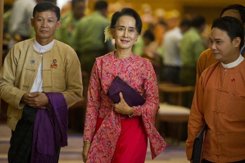 Aung San Suu Kyi, 70, is barred from Myanmar's presidency by a constitution that thwarts her ambition to lead the country away from decades of military rule (AFP Photo/Ye Aung Thu)