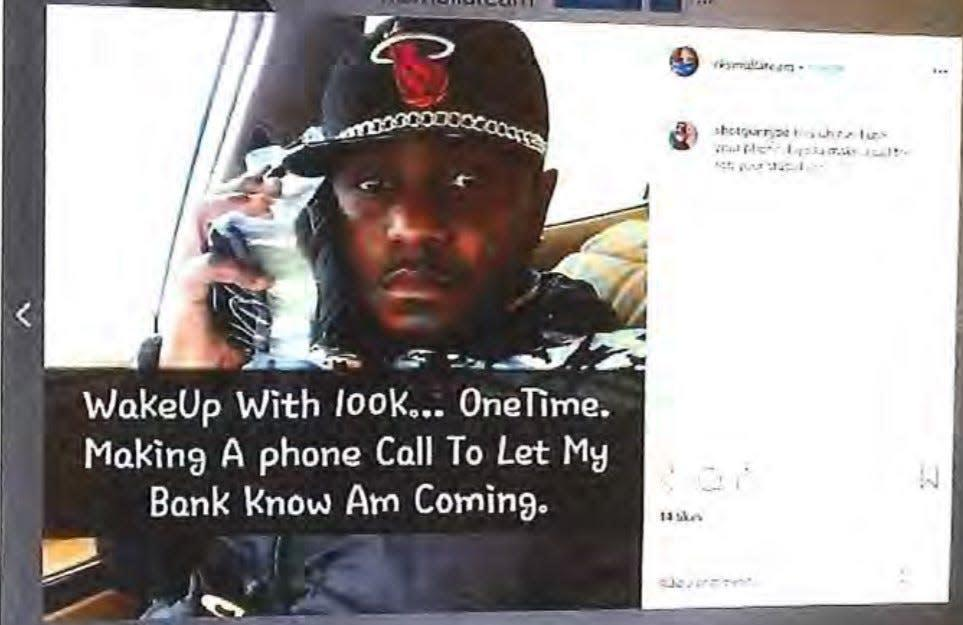Rubbin Sarpong is accused of defrauding more than 30 victims of $2.1 million in online dating scheme.
