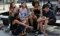 <p>Crystal Moselle's follow-up to The Wolfpack centres on an introverted teenage skateboarder (Rachelle Vinberg) from Long Island, who befriends an all-girl, New York City-based skateboarding crew called Skate Kitchen and awkwardly falls in love at the same time. </p>