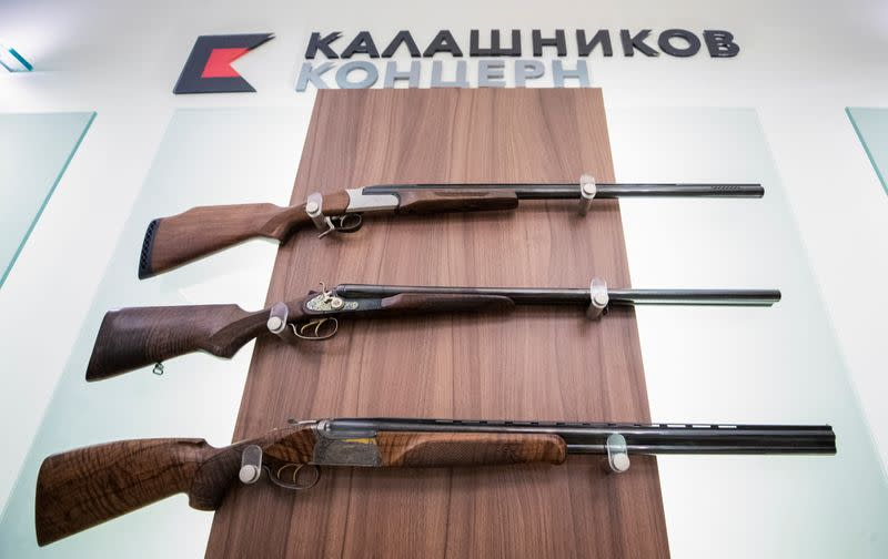 A view shows an office of Russian arms manufacturer Kalashnikov Kalashnikov in Moscow