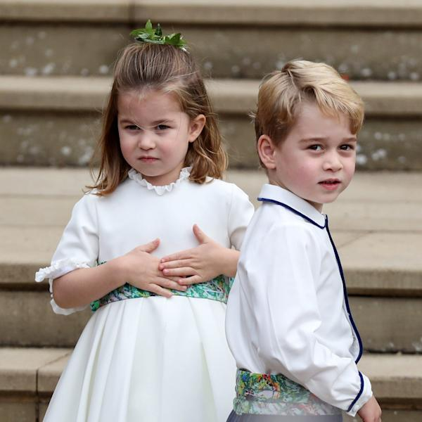 Princess Charlotte and Prince George were a bridesmaid and pageboy, respectively, at Princess Eugenie and Jack Brooksbank's royal wedding.