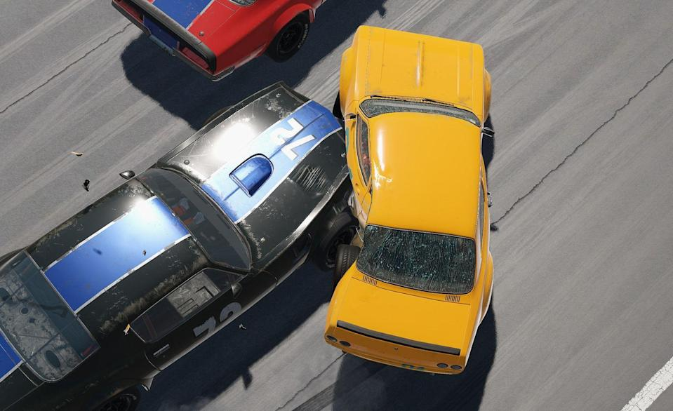 """<p><strong>THQ Nordic</strong></p><p>steampowered.com</p><p><strong>$29.99</strong></p><p><a href=""""https://store.steampowered.com/app/228380/Wreckfest/"""" rel=""""nofollow noopener"""" target=""""_blank"""" data-ylk=""""slk:BUY IT HERE"""" class=""""link rapid-noclick-resp"""">BUY IT HERE</a></p><p><em>Wreckfest</em> is just good, old fun. While wrecking is the name of the game, that's not all this modern title has to offer. It's also a bona-fide racing game with solid vehicle dynamics and realistic crash modeling. Motorized couches and car-eating harvesters, however, stand as a reminder that you're playing a game like no other. If you feel like testing your mettle with other players, there's an online game-play mode. The more introverted, however, have access to a vast selection of single-player events.</p>"""
