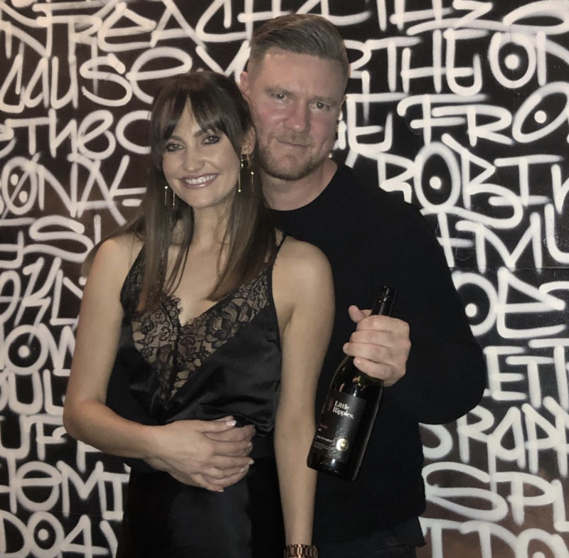 Dean Wells and Emma Roche were snapped looking cosy during a night out in Sydney. Photo: Instagram/deanwelles