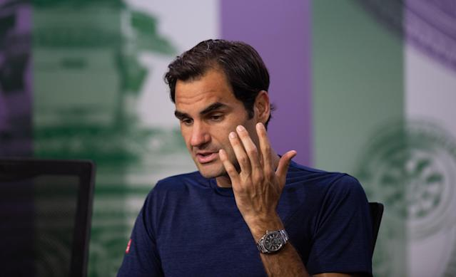 Roger Federer was bemoaning missed opportunities after being downed by Kevin Anderson
