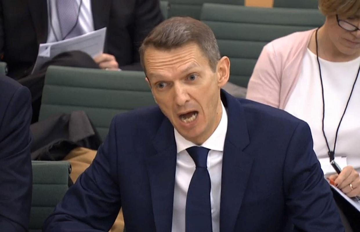 Andy Haldane, the Bank of England's outgoing chief economist, gives evidence to the Treasury Select Committee in the House of Commons, London. Photo: PA