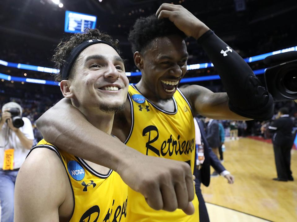 UMBC was, without a doubt, the biggest story of the 2018 NCAA tournament's wild first weekend. (Getty)