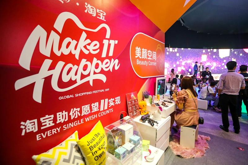 A pop-up at MyTOWN Shopping Centre in Cheras gives a sneak preview of what shoppers can expect when the physical Taobao Store opens later this month. — Picture by Firdaus Latif